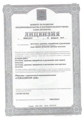 Лицензии лом 6