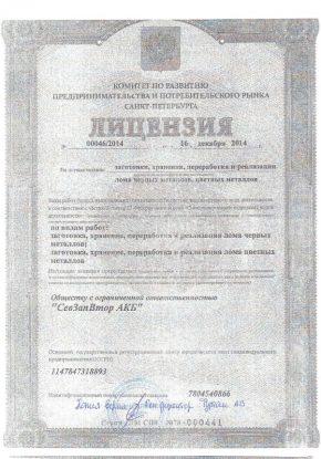 Лицензии лом 1